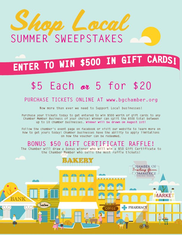 $500 Gift Certificate RAFFLE! Ends August 1st!
