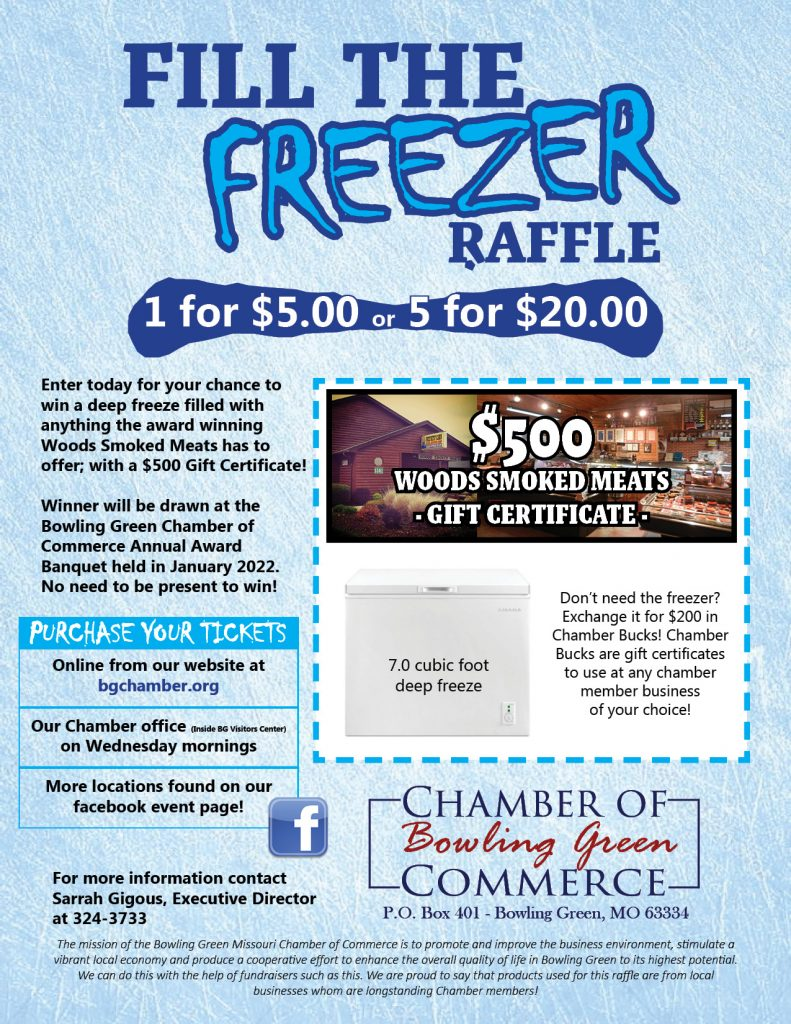 Fill The Freezer Raffle Tickets ON SALE NOW!